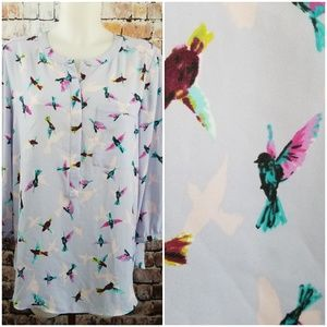 NYDJ Blouse with Humming Birds
